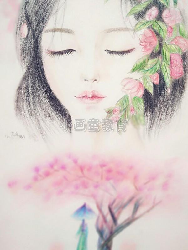 笔下生花 唯美彩铅手绘