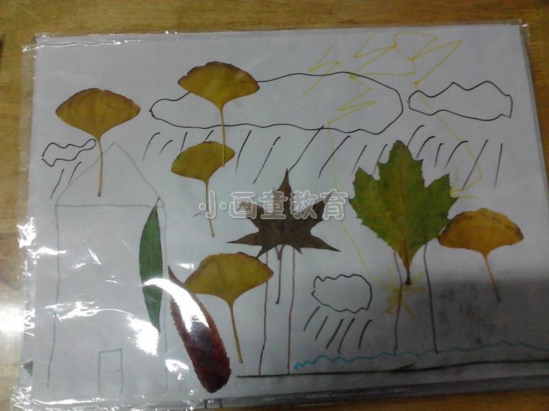 树叶粘贴画,让你体会脑洞大开的乐趣