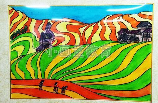 """""""家在龙脊""""儿童美术作品在广西师范学院开展"""