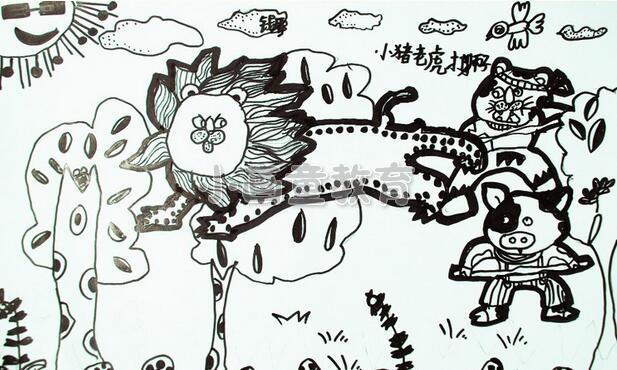 线描画需要绘画的工具很简单,只需要一张纸和一支笔即可,儿童只需要根据内心所思所想将心中的故事画出来即可,那么《狮子的故事》该如何绘画呢?下面随小编来看一下吧!  想象故事场面 想要画出《狮子的故事》,那么儿童首先需要想的就是关于狮子的故事,根据故事展开情节,将自己所思所想呈现在画面上,运用线描画点线面的运用,会让画面有很强的装饰性及独特的视觉效果。