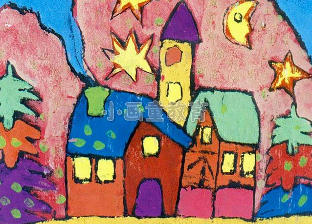 儿童美术作品打造地铁微型 美术馆